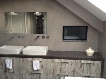 beton cire badkamer  beton cire, Meubels Ideeën