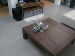 beton cire vloer woonkamer