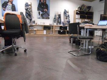 beton cire vloer kantoor