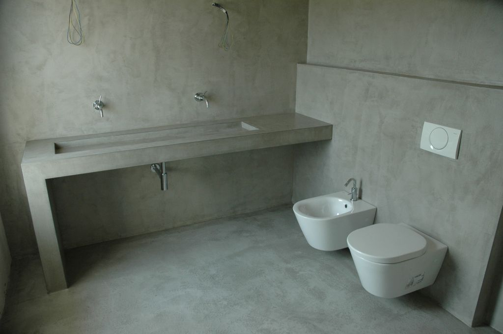 Beton cire badkamer Helden - Beton cire