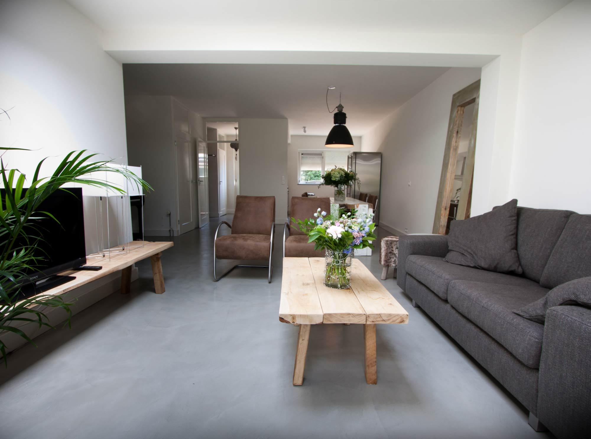 Woonkamer Met Beton : Beton cire vloer beton cire