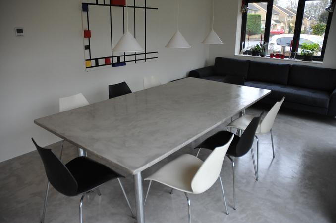Beton cire tafel beton cire