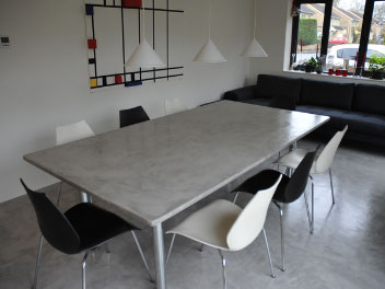 beton cire eettafel